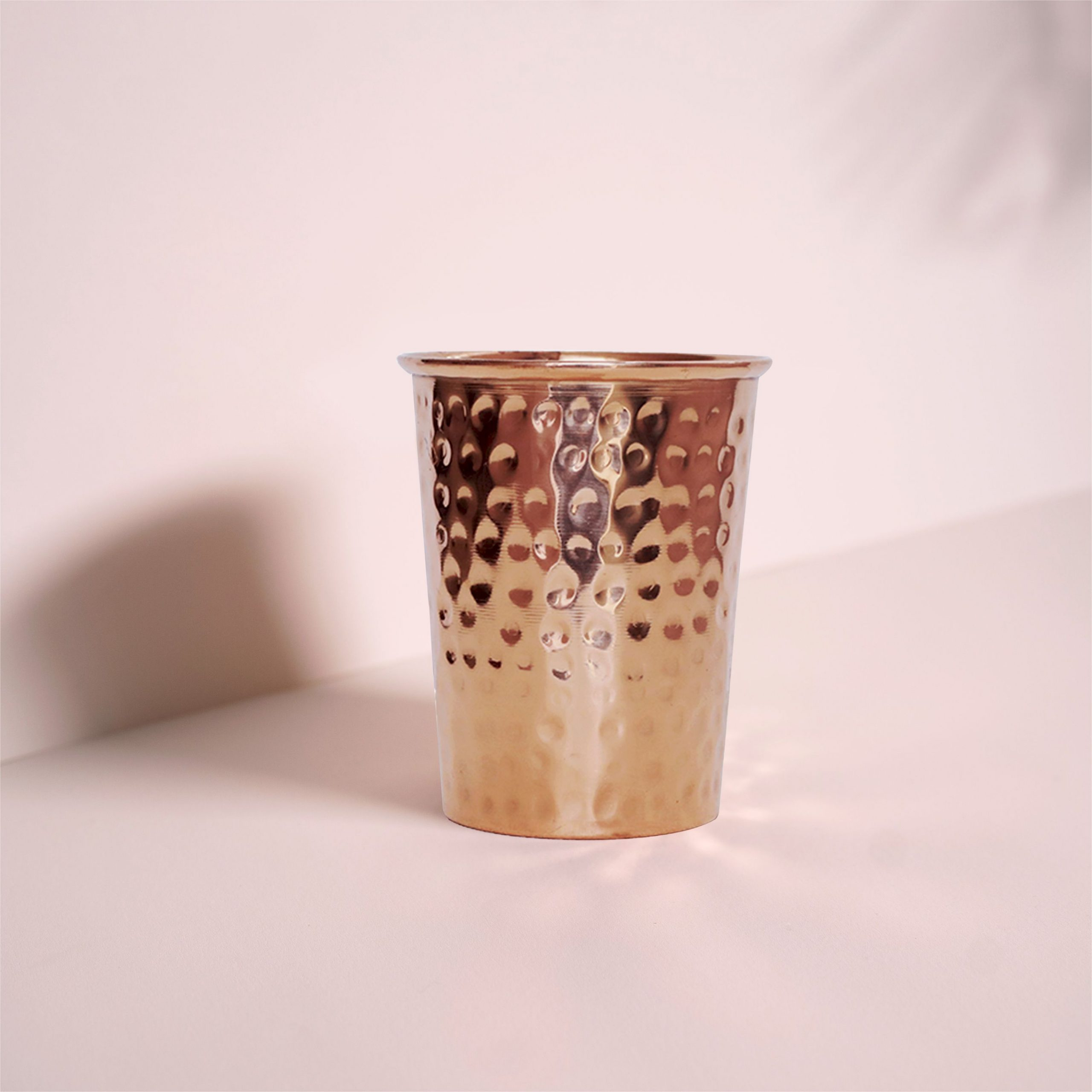 HAMMERED COPPER WATER GLASS 300ML