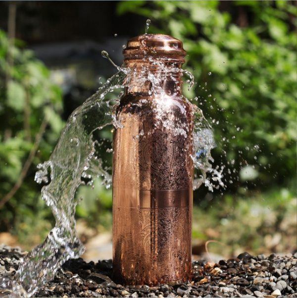 Engraved Copper Bottle