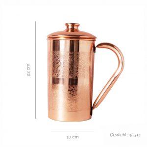 Copper jugs engraved