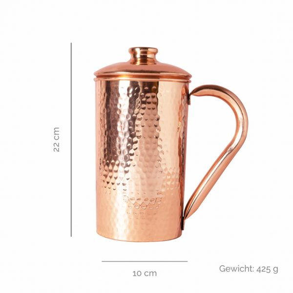 Copper jugs hammered